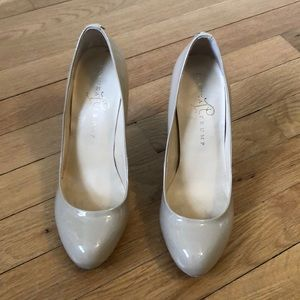 Ivanka Trump Nude Patent Leather Heels Size 6.5